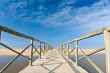 Wooden Bridge Over The Sea