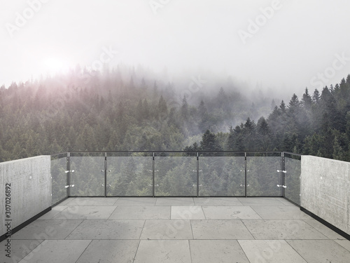 Photo Balcony view of  mountains