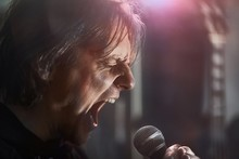 Metal Singer Yelling Into The ...
