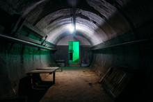 Dark Abandoned Soviet Bunker, ...