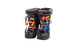 Children's Warm Boots Isolated...