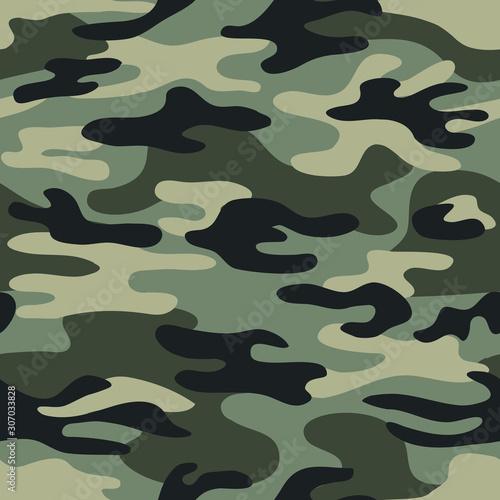 Pinturas sobre lienzo  Seamless classic camouflage pattern