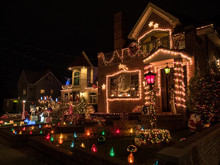 Decorated Christmas Houses