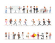 Set of business people working in office character vector design no11
