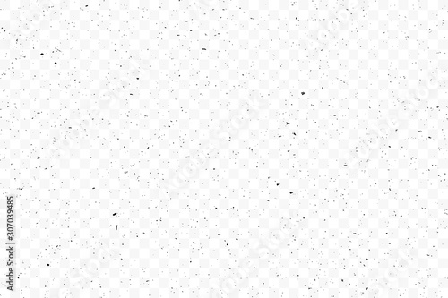 Obraz Texture grunge chaotic random pattern on transparent background. Monochrome abstract dusty worn scuffed background. Spotted noisy backdrop. Vector. - fototapety do salonu