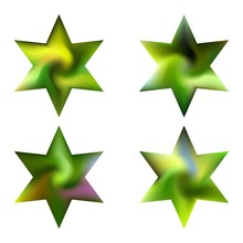 Kit Of Hexagram Abstract Backgrounds.