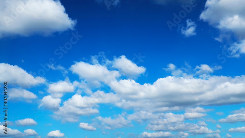 Canvas Prints Heaven white cloud with blue sky in the summer for background