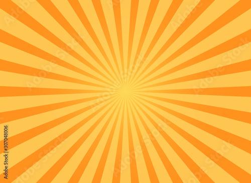 grunge sunburst orange abstract background Canvas Print