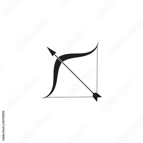 Arrow archery icon vector illustration Logo Template Canvas Print