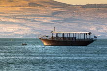 Boat In The Sea Of Galilee In ...