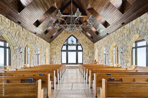 Fotografie, Tablou Cliffs Chapel Church