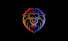 Colorful Lion Roar Logo - Lion...