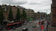 cloudy day time amsterdam city traffic street rooftop panorama 4k netherlands