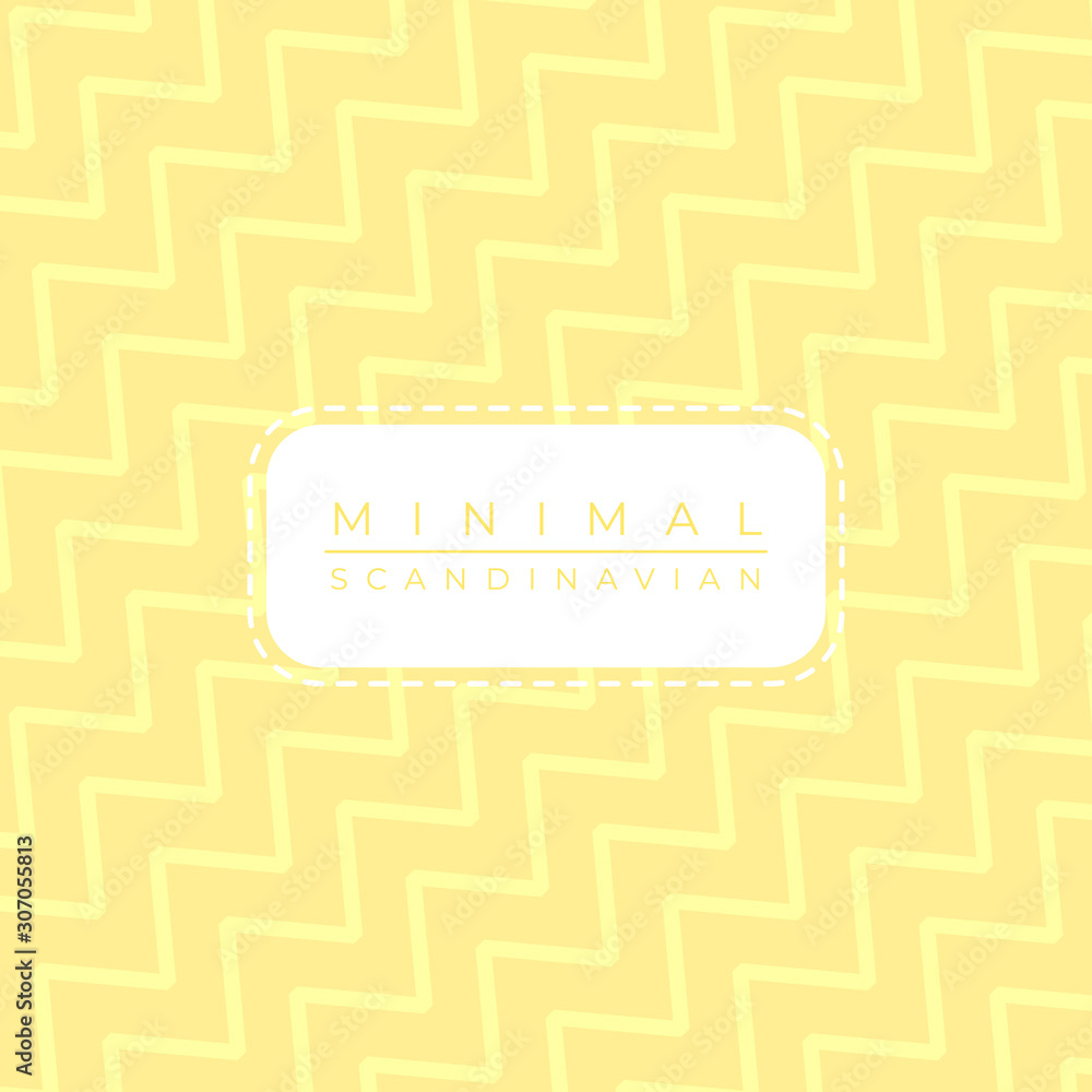 Scandinavian minimal art style zigzax pattern background color pastel bright