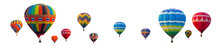 Colorful Hot Air Balloons Isol...