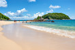 Ya Nui Beach with Turquiose Ocean in Summer, Phuket Thailand