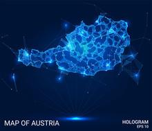 Hologram Of Austria. Map Of Au...