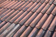 Old Roof Tiles Closeup