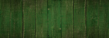Green Wooden Boards. Use As Background Or Texture.