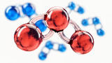 Carbon dioxide molecule, clipping path included, 3d Rendering