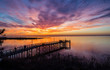 canvas print picture - sunset on Mobile Bay, Alabama