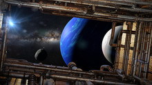 View On Planet Neptune With Mo...