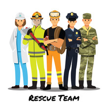 Rescue Team ,Vector Illustrati...