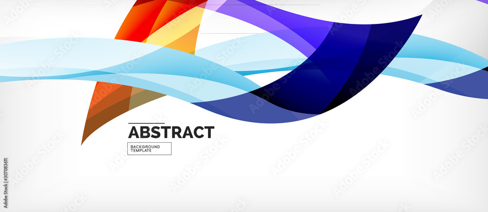 Linear wave web template. Vector illustration bright design. Decorative print. Decorative backdrop vector. Vector business illustration