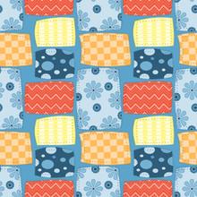 Seamless Pattern Of Fabric Pat...