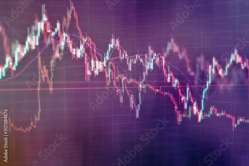 Pinturas sobre lienzo  Display of Stock market quotes