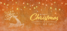 Christmas Time. Merry Christmas And Happy New Year Concept. Elegant Christmas Reindeer Decoration.