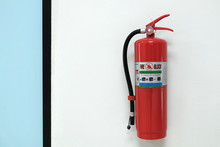Red Fire Extinguisher Installe...
