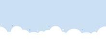 Cute White Cloud On Pastel Blu...