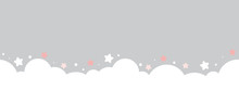 Cute Cloud And Stars On Pastel...