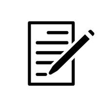 Writing Icon Flat Style Isolat...