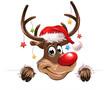 Weihnachten Sterne bunt freundlich Rudulph eps10 Illustration vektor