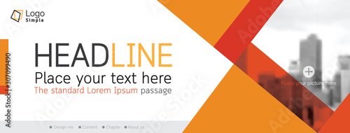Fototapeta Horizontal web banner, vector template, with space for your picture obraz