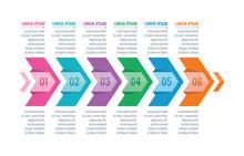 Four Option Arrows Infographic Template. Arrow Signs Information Template. Business Infographic