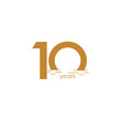 10 Years Anniversary Celebration Sunset Vector Template Design Illustration