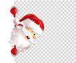 Weihnachten transparent freundlich Weihnachtsmann eps10 Illustration vektor