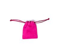 Pink Velvet Jewelry Bag On Whi...