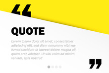 Rectangle Motivation Quote Template Vector Background With Realistic Soft Shadows In Material Design. Good For Inspirational Text, Quotes Etc. Horizontal Layout.