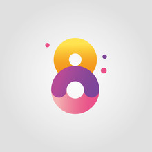 Vector Number Eight Logo Desig...