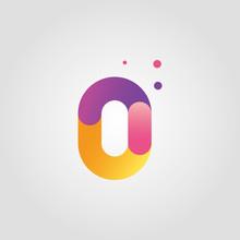 Vector Number Zero Logo Design...