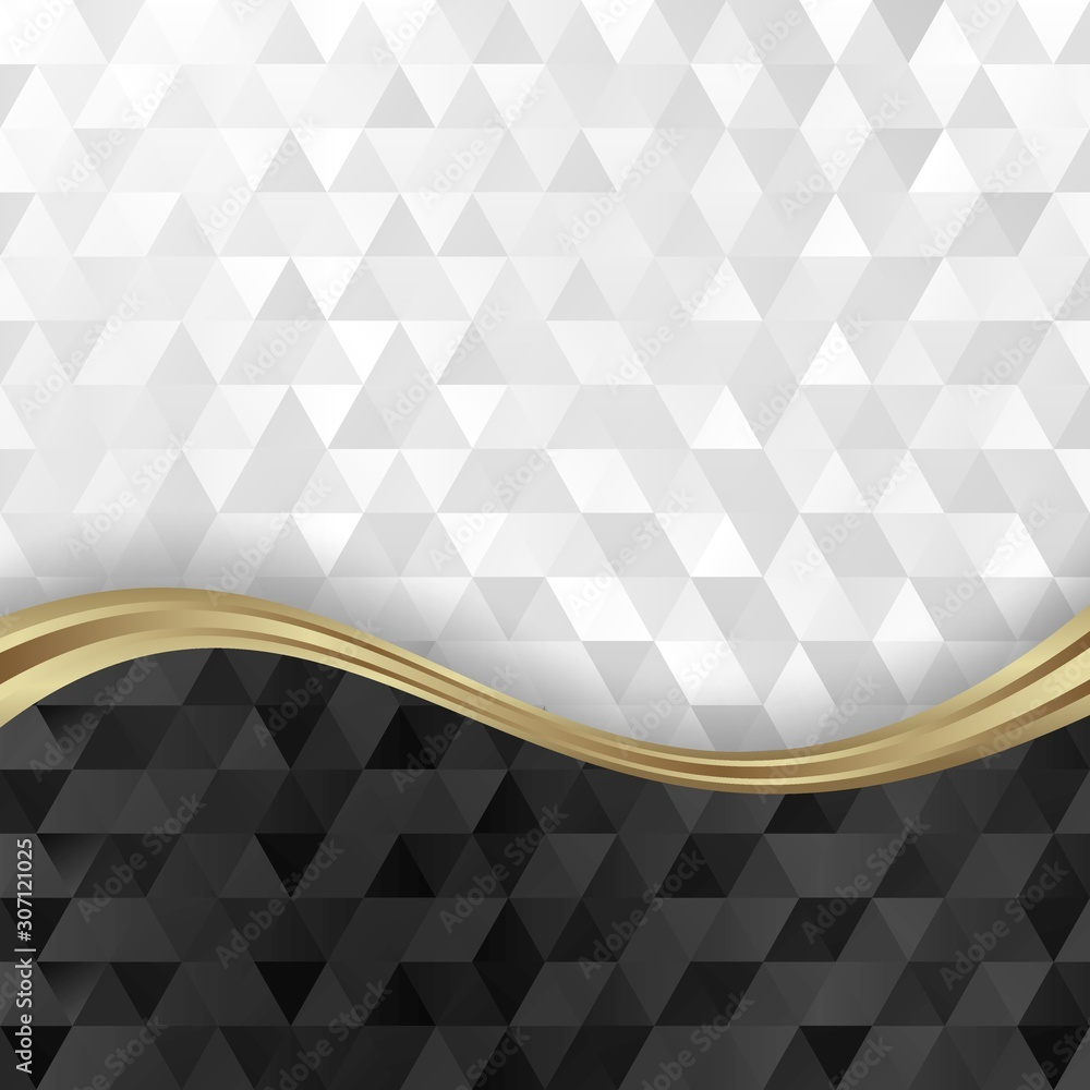 black and white abstract geometric background