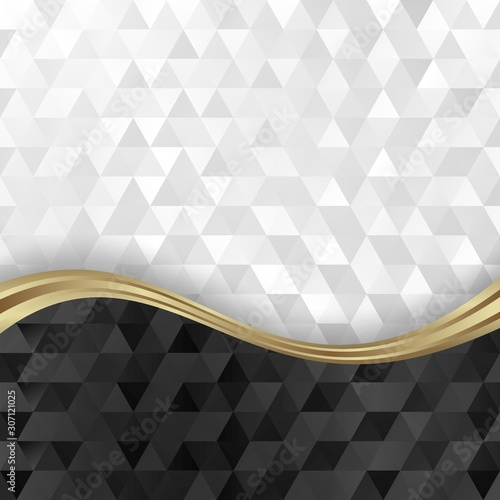 Plakat abstrakcyjny  black-and-white-abstract-geometric-background