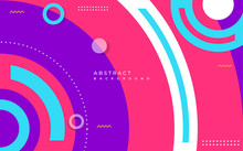 Colorful Abstract Circle Geometric Background Design. Pop Modern Template Design