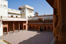 Junagadh Fort, Central Atrium Inside Fort, Bikaner, Rajasthan, India