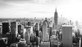 Fototapeta Nowy York - New York City Skyline in schwarz weiß