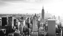 New York City Skyline In Schwa...